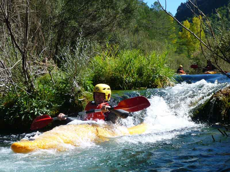 Kayak aguas bravas nivel II