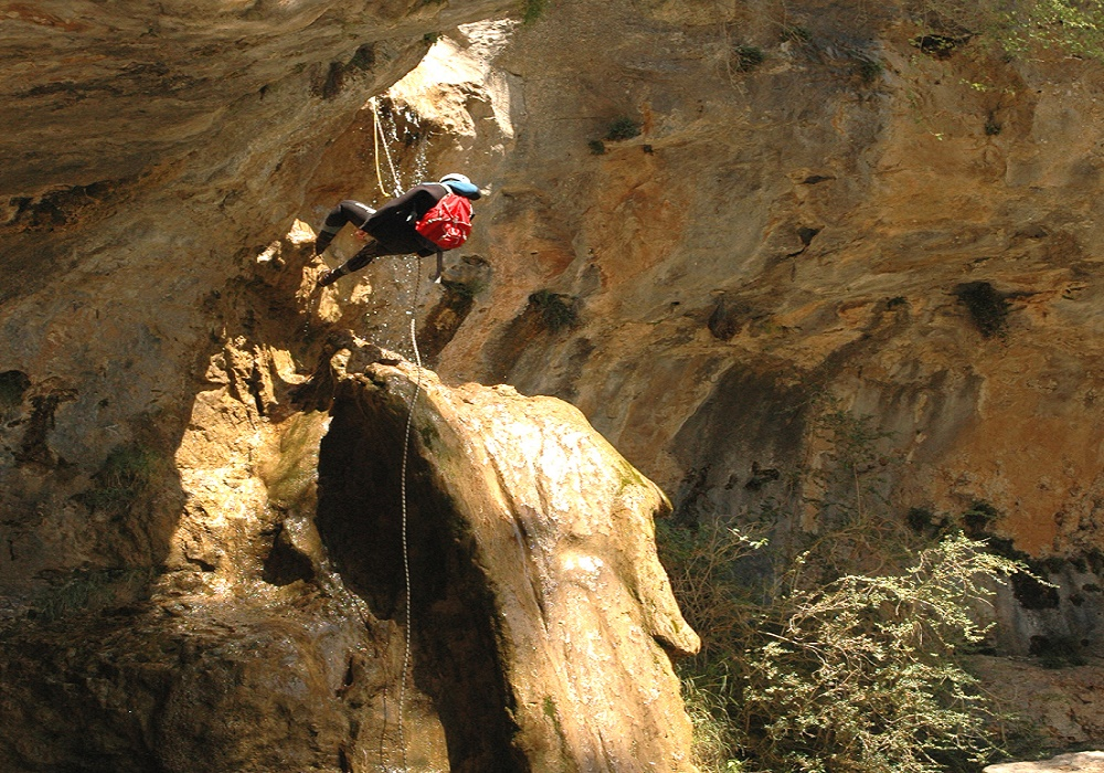 Rapel de la Toba ( Barranco de Poyatos ).