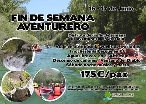 16 - 17 de Junio - Aguas bravas y barranquismo acuático en el Alto Tajo.