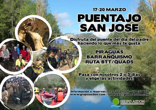 17 -20 Puente San José - Piraguas, barranquismo y btt en el Alto Tajo.
