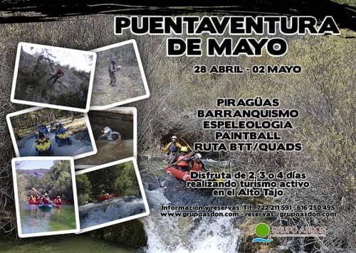 28 -02 Puente de Mayo - Canorafting, mutiaventura, barrancos y quads en el alto Tajo