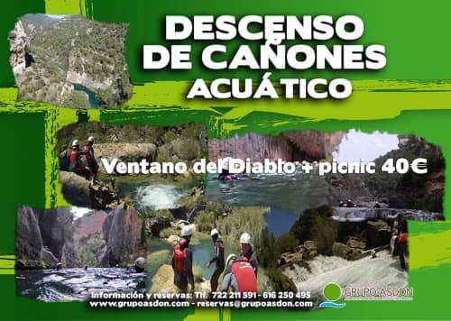 20 de julio 2019 - Descenso de cañones + picnic en El ventano del Diablo
