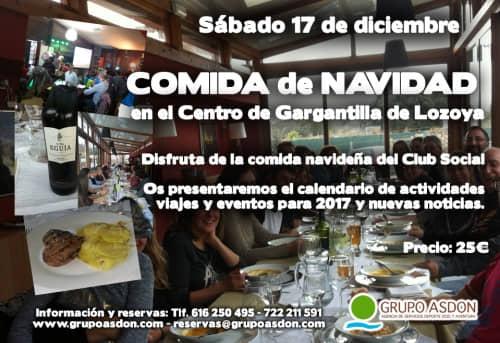 17 de Diciembre  - Comida de Navidad y juegos cooperativos en Lozoya.