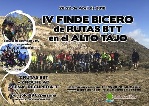 20-22 de Abril de 2018 - IV edición BTT en el Alto Tajo.
