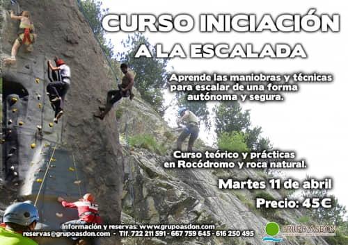 11 de abril - Iniciación a la escalada en rocódromo y roca en Lozoya