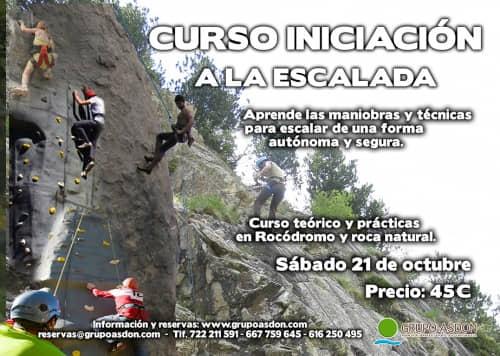 21 de octubre - Iniciación a la escalada en rocódromo y roca en Lozoya
