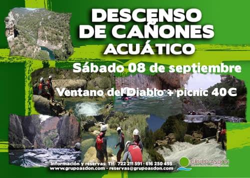 08 de Septiembre 2018 - Descenso de cañones + picnic en El ventano del Diablo