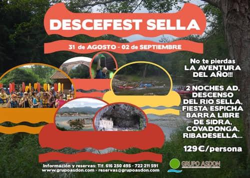 31 de agosto - 02 de septiembre - Fiesta Espicha en Cangas de Onis y descenso del río Sella.