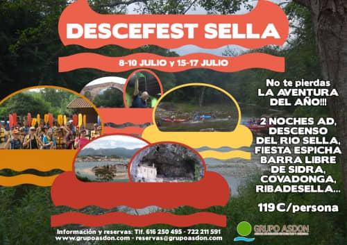 08 -10 y 15 -17 Julio. Fiesta en Cangas de Onis y descenso del rio Sella.