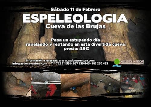 11 de Febrero de 2017 - Espeleología en la cueva de las Brujas