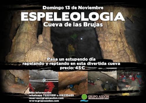 13 de Noviembre de 2016 - Espeleología en la cueva de las Brujas