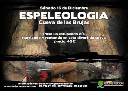 16 de Diciembre de 2017 - Espeleología en la cueva de las Brujas.