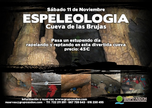 11 de Noviembre de 2017 - Espeleología en la cueva de las Brujas.