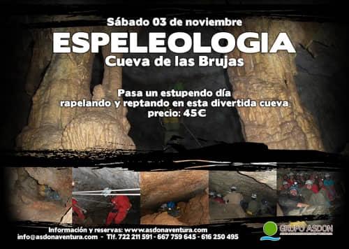 03 de Noviembre de 2018 - Espeleología en la cueva de las Brujas.