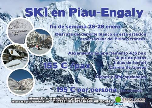 26-28 de Enero de 2018 - Fin de semana de esqui en Piau Engaly.