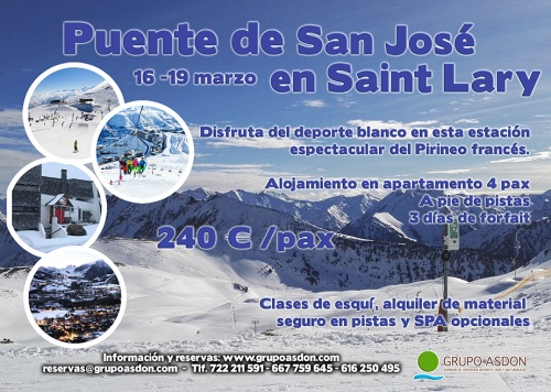 16-19 de Marzo de 2018 - Puente San Jose de esqui en Saint Lary.