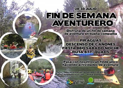 28 - 30 julio - Piraguas, barranquismo y fiesta BBQ en el alto Tajo.