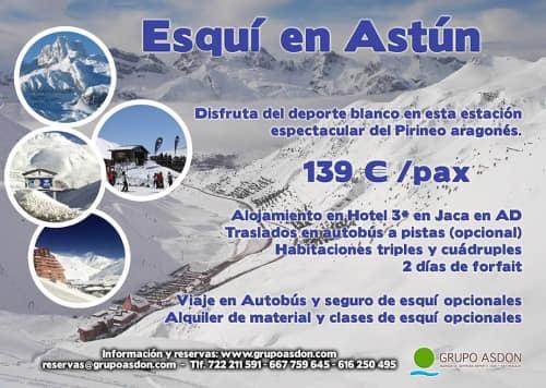 27-29 de marzo - Fin de semana de esqui en Astún