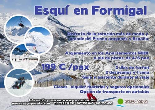 20-22 de marzo - Fin de semana de esqui en Formigal.