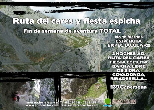 28 - 30 de junio - Ruta del cares y Fiesta espicha en Cangas.