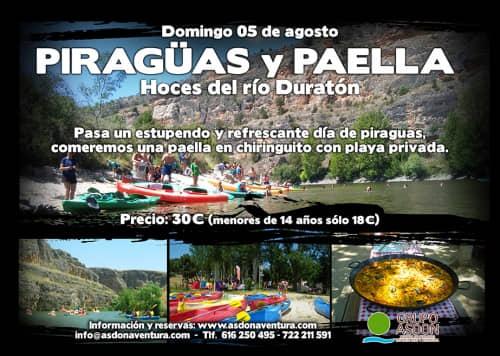 05 de agosto de 2018 - Hoces del rio Duratón y paella en chiringuito.