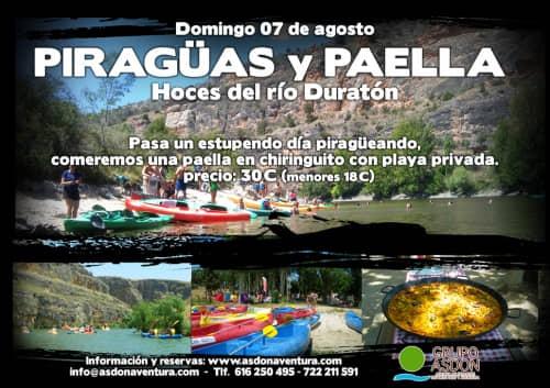 07 de Agosto 2016 - Hoces del rio Duratón y paella en chiringuito.