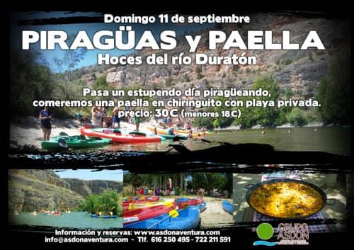 11 de Septiembre 2016 - Hoces del rio Duratón y paella en chiringuito.