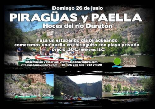 26 de Junio 2016 - Hoces del rio Duratón y paella en chiringuito.