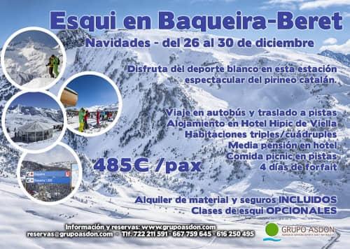 26-30 de diciembre - Navidades esquiando en Baqueira Beret.