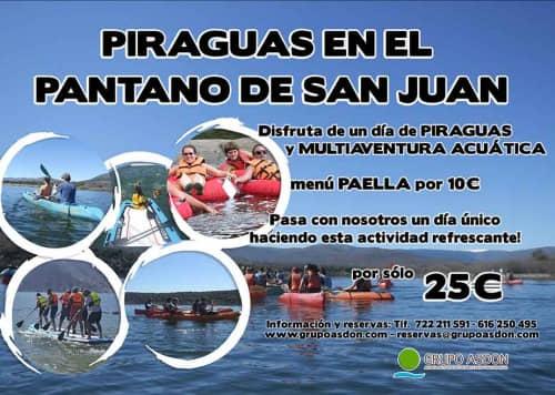 01 de septiembre 2019 - Piraguas y multiaventura acuática en el pantano de San Juan, paella en camping