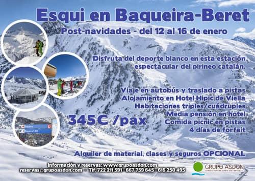 12-16 de enero - Navidades esquiando en Baqueira Beret.