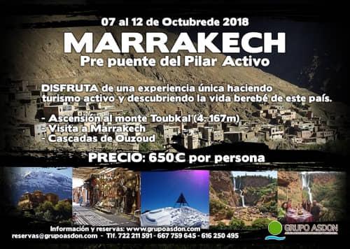 """07 - 12 de Octubre de 2018 - Pre puente del Pilar en Marruecos """"Visita a Marrakech, Ascensión al Toubkal y cascadas Ouzuod""""."""