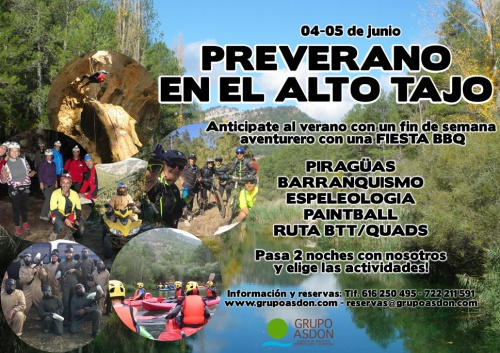 04 - 05 junio - Piraguas, barranquismo y fiesta BBQ en el alto Tajo.