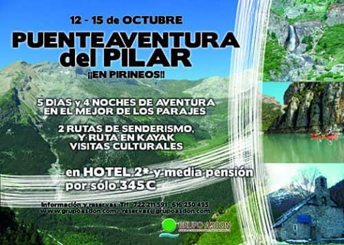 11 - 15 octubre - Puente del Pilar en Pirineos