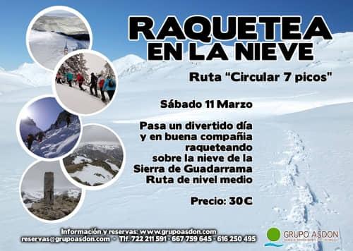 """11 de marzo 2017 - Raquetas de nieve nivel medio """"Navacerrada""""."""