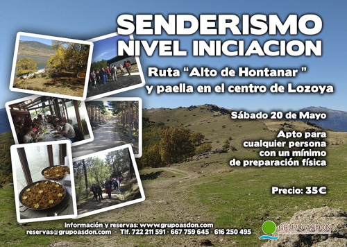 "20 de Mayo 2017 - Ruta de trekking y comida ""Altos de Hontanar""."