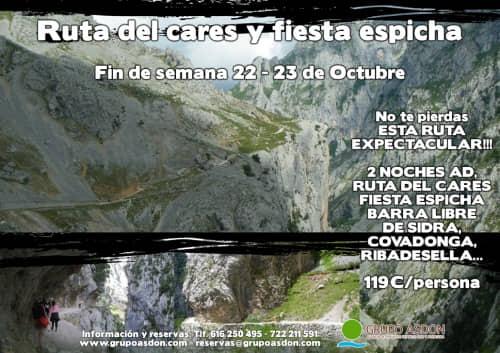 22 -23 Octubre - Ruta del cares y Fiesta espicha en Cangas.