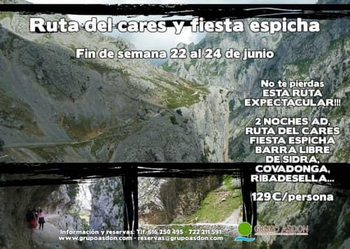 22 -24 de junio - Ruta del cares y Fiesta espicha en Cangas.