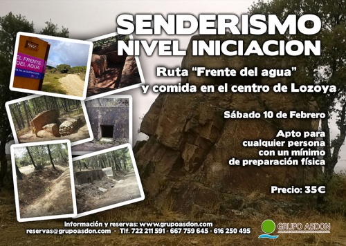 "10 de Febrero 2018 - Ruta de trekking y comida ""Frente del agua""."