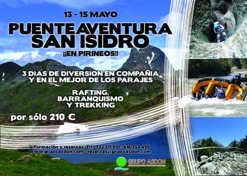 13 - 15 Puente San Isidro - Trekking, barranquismo y Rafting en Pirineos
