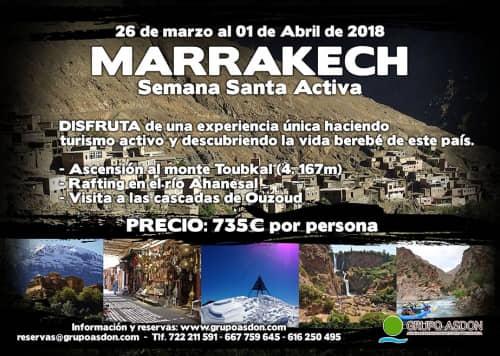 "26 de Marzo - 01 de Abril de 2018 - Semana Santa en Marruecos ""Ascensión Toubkal, cascadas Ouzuod y rafting río Ahanesal""."