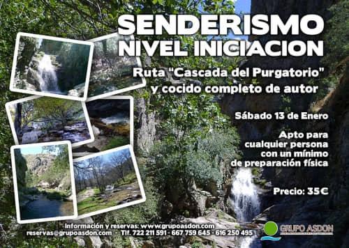 """13 de Enero 2018 - Ruta de trekking y cocido """"Cascada del Purgatorio""""."""
