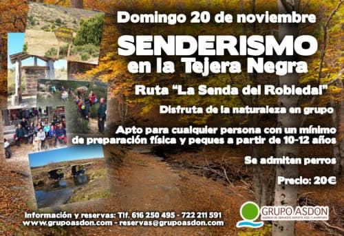 """20 de noviembre de 2016 - Ruta de trekking nivel medio """"Tejera Negra""""."""