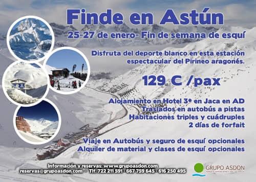 25-27 de Enero - Fin de semana de esqui en Astún.
