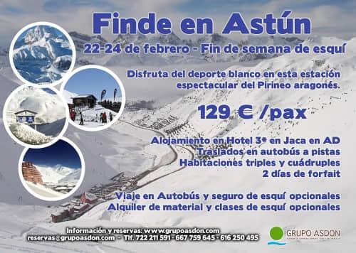 22-24 de Febrero de 2019 - Fin de semana de esqui en Astún