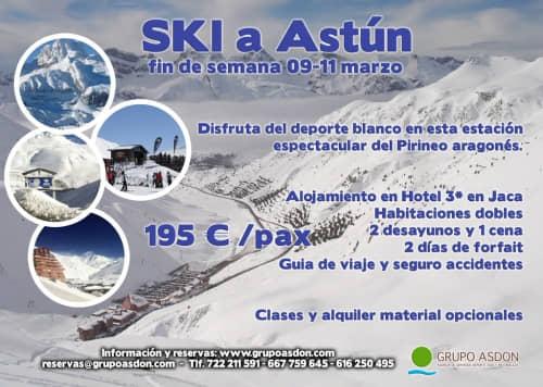 09-11 de Marzo de 2018 - Fin de semana de esqui en Astún.