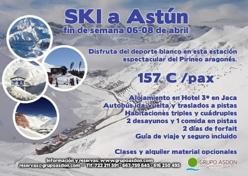 06-08 de Abril de 2018 - Fin de semana de esqui en Astún.