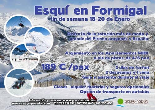 18-20 de Enero - Fin de semana de esqui en Formigal.