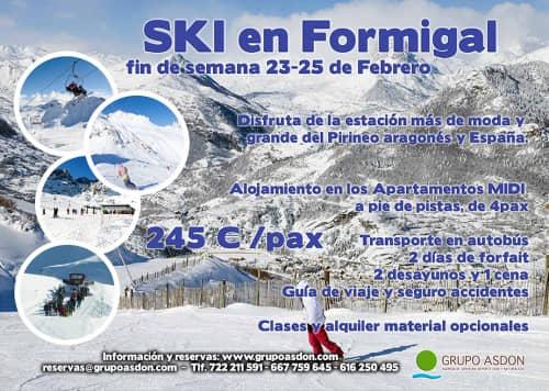23-25 de Febrero - Fin de semana de esqui en Formigal.