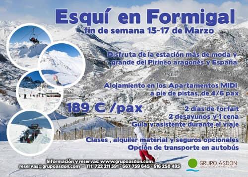 15-17 de Marzo - Fin de semana de esqui en Formigal.